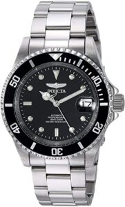 STAINLESS STEEL AUTOMATIC WATCH BY INVICTA