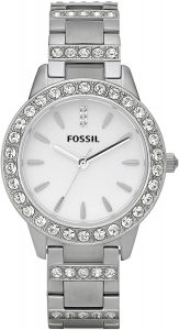 Fossil Women's Jesse Stainless Steel Crystal-Accented Dress Quartz Watch